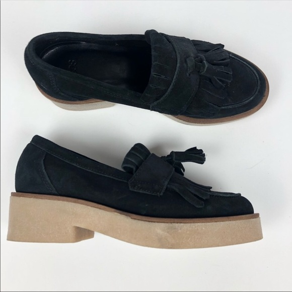 Nwot Asos Platform Suede Loafers With